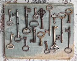 vintage key collection skeleton key graph antique keys