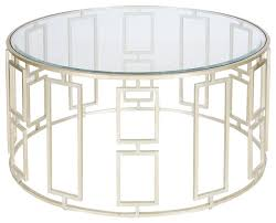 worlds away jenny silver leafed coffee table round metal and glass coffee table steel and glass