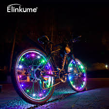 Lights On Wheels Of A Bicycle 20 Leds 2m Bicycle String Light Wheels Multicolor Twinkle Light Waterproof Bike Lights Cycling String Wire Lamp Led Outdoor Lamp