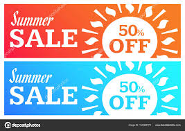 ソーシャル メディア夏販売バナーウェブサイトと携帯サイトのバナー
