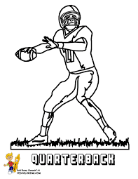 Small Picture Gutsy American Football Coloring Pages Quarterbacks Free