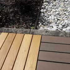 Mattonelle in legno per pavimenti esterni Woodplate Robinia miele