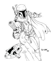 Jango Fett Coloring Pages Coloring Page Star Wars Coloring Page