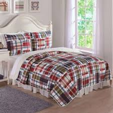 Buy Burgundy Quilts from Bed Bath & Beyond & Preppy Plaid Twin Quilt Set Adamdwight.com