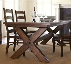 pottery barn style dining table:  toscana fixed dining table o