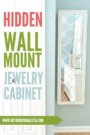 mirrored wall mount jewelry cabinet