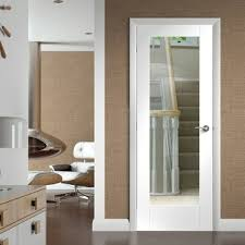 interior clear glass door. Pattern 10 White Primed Door With Clear Safety Glass Interior L