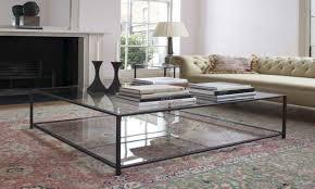coffee table square glass top la
