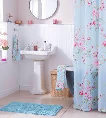 Canterbury Bath Range Towels Mat Shower Curtain Floral Blue