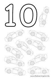 Number Coloring Pages 1 10 Coloring Numbers 1 Number Coloring Pages