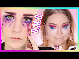 i tried following a simply nailogical makeup tutorial wow