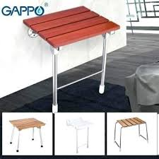 wall mounted furniture india folding steel shower seat chair foldaway disabled seats solid wood bath spa