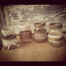 Decorating With Mason Jars And Burlap country wedding reception ideas with burlap and mason jars 23