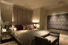 modern bedroom lighting ceiling. Beautiful Modern Master Bedroom With Ceiling Lights And Corner Shade Table Lamps Lighting L