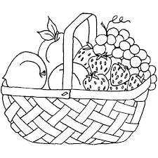 Small Picture Colouring Pages Fruit Basket Free Download