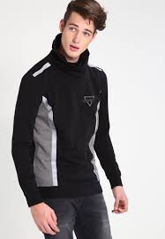 guess kasper sweatshirt black men clothing jumpers cardigans sweatshirts guess model attractive