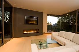 contemporary tv above modern chic linear fireplace ideas