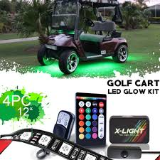 Club Car Lights Us 44 99 X Light Clubcar Villager Lsv Golf Cart Led Neon Glow Lights Pod Kit With Double Wirless Remote Switch 4x12