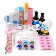Fashion Zone Pro UV Gel Nail Art Kit 6 Powders Blocks Primier Tips ...