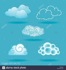 Set Of Different Types Of Clouds No 2 Stock Vector Art