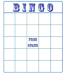 Blank Bingo Card Template Microsoft Word Bingo Card Template