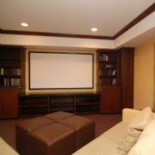 dark media room. Warm, Masculine Media Room With Leather Sofa Dark