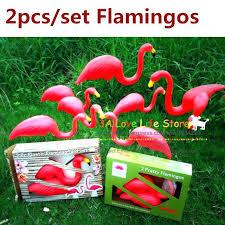 flamingo yard decor flamingo garden decor one pairs red plastic lawn flamingos for garden decor garden