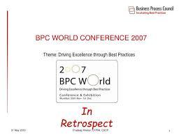 Retrospect Theme Powerpoint 2010 Ppt Bpc World Conference 2007 Powerpoint Presentation Id 1292423