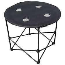 brand new logo round picnic table foldable portable outdoor round table 76cm diameter