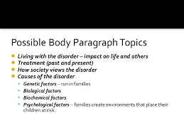 disorders expository essay topics  6 6