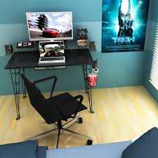 gaming desk with cup holder