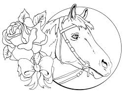 Small Picture Free Printable Horse Coloring Pages For Adults Advanced Medium