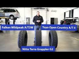 At Tire Comparison Nitto Terra Grappler G2 Vs Toyo Open