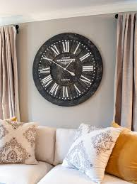 ... Large Rustic Wall Clocks Rustic Table Clock Elegance Black Wall Clock  With Silver Clockwise ...
