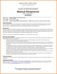 medical office resume assistant cover letter 8 medical office resume