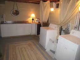 unfinished basement laundry room makeover. How To Clean An Unfinished Basement Floor ModernDayHomecom Unfinished Basement Laundry Room Makeover O
