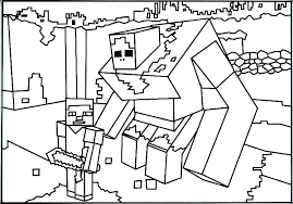 Printable Coloring Pages Minecraft Coloring Pages Minecraft Steve