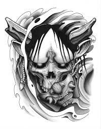 Hanya Skull Tattoo Design By Funkt Green тату идеи для