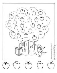 Small Picture Fall Fun Apple Tree Coloring Page