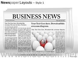 newspaper ppt template editable newspaper slide layout powerpoint themes powerpoint diagram