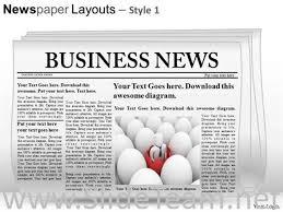 Newspaper Powerpoint Template Unique EDITABLE NEWSPAPER SLIDE LAYOUT POWERPOINT THEMESPowerPoint Diagram
