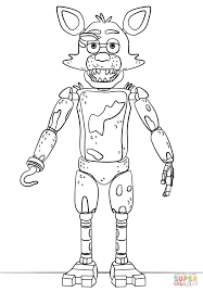 Fnaf Toy Foxy Coloring Page From Five Nights At Freddys Category