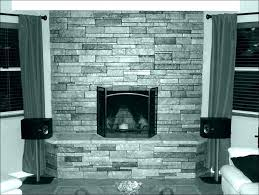 flagstone fireplace painted stone faux stacked white