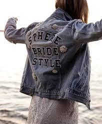 customised embellished denim jacket