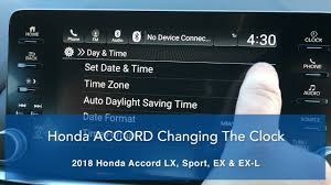 honda accord clock wallpaper. Beautiful Clock How To Change The 2018 Accord Clock Settings Patty Peck Honda Inside Wallpaper