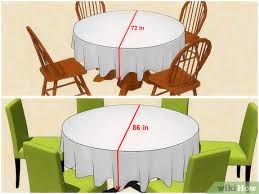 3 ways to choose a tablecloth size