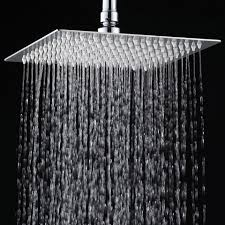 best rated rain shower head. yawall™ 12 inches ultra-thin stainless steel rain shower head best rated t