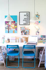 color schemes for home office. brilliant schemes blue chairs office desk girlyinteriordesignideas home ideas  20 home in color schemes for office