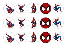Spiderman My Cupcake Toppers