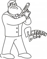 Small Picture American Dad Coloring Page Coloring Home